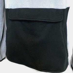 South Pole Shirts - Southpole 1/4 Zip Hoodie Gry/Wht/Blk Sz XXL GUC